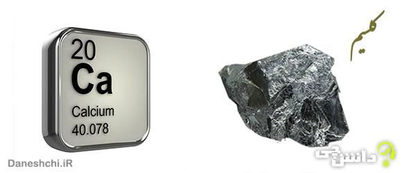 عنصر کلسیم Ca 20، عنصری از جدول تناوبی