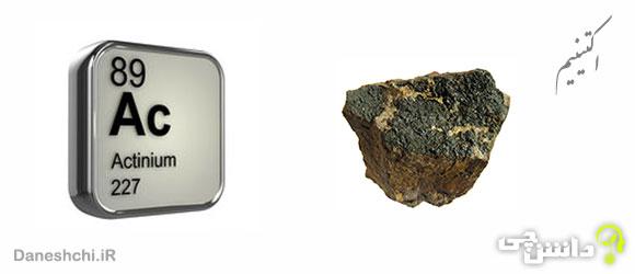 عنصر اکتینیم Ac 89، عنصری از جدول تناوبی